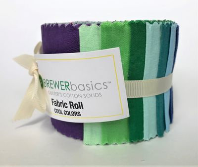 Fabric Roll Cool Colors