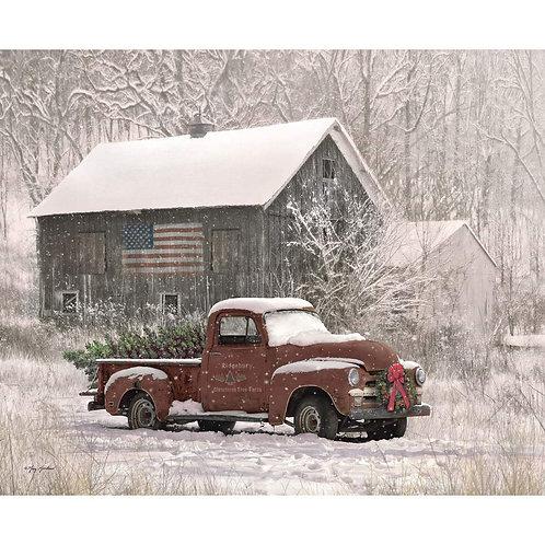 Christmas Memories Tree Farm Truck Panel