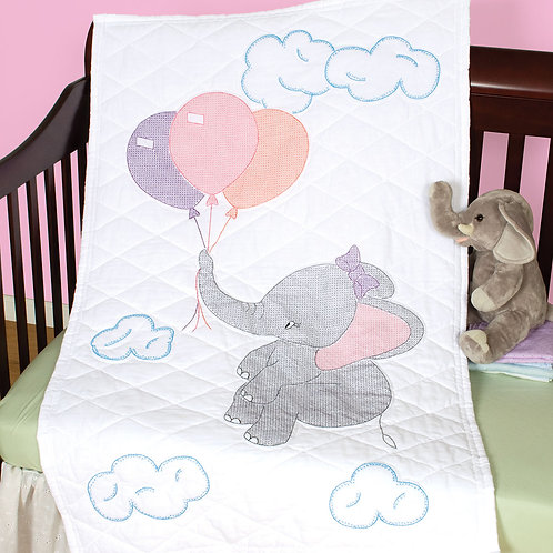 Elephant Crib Quilt Top