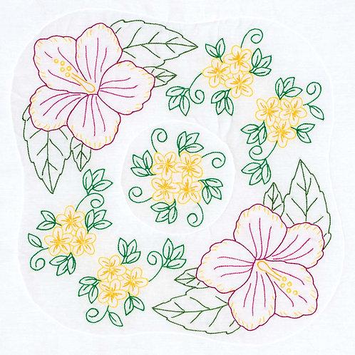 Hibiscus 18″ Quilt Blocks