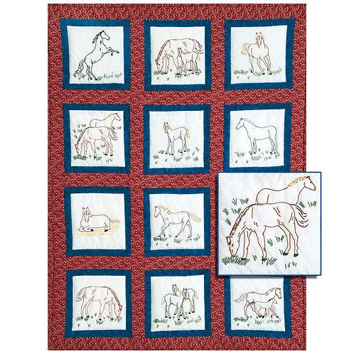 Horses 9 inch Quilt Blocks