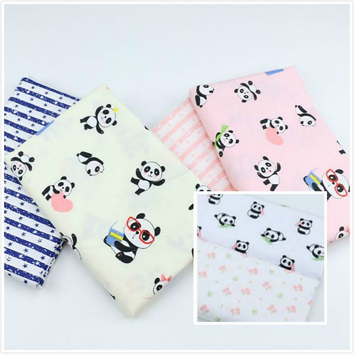 Cartoon Panda Fabric Children's  Cotton Fabric