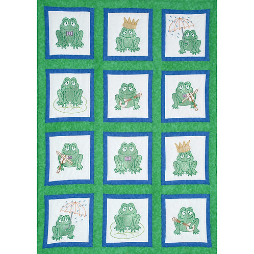 Frogs 9 inch Quilt Blocks