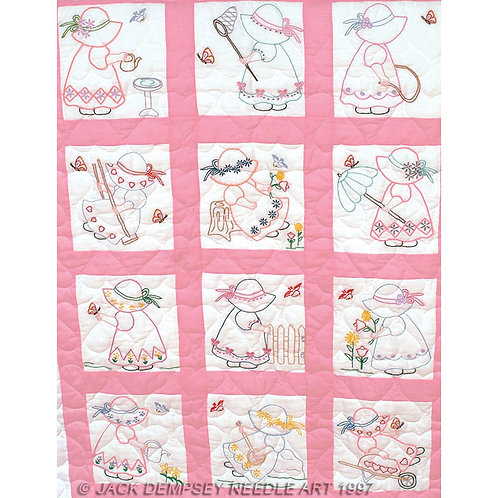 Girls Nursery Quilt Blocks