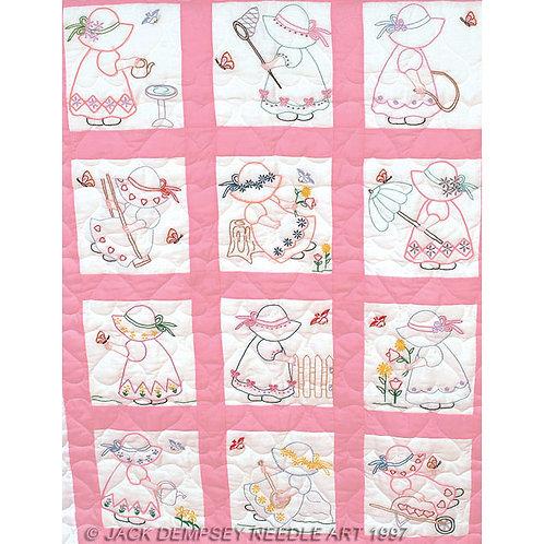 Girls Nursery Quilt Blocks
