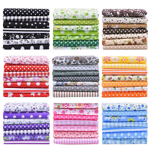 10x10in and 10x7in Printed Cotton Fabric Cloth Sewing Quilting Fabrics