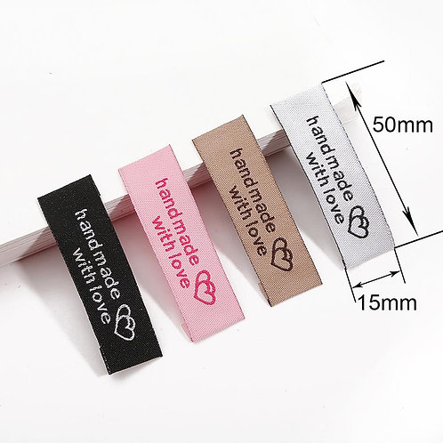 20pcs Garment Label Fabric Handmade Tags 2x1/2in  Colorful Tags