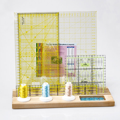 Wooden Holder Storage Space DIY Arts Crafts Sewing