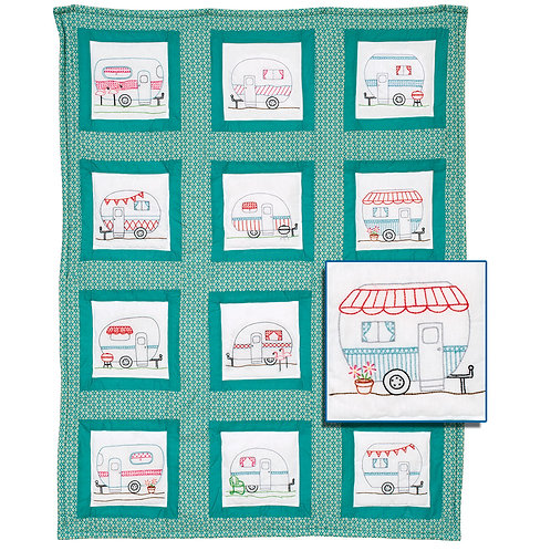 Happy Campers 9 inch Quilt Blocks