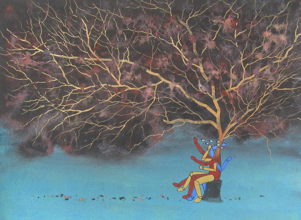 polymorphic tree_mixedmediaonpaper_18x24inch_2019
