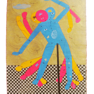 need say dance with me_mixedmediaoncanvas_48x60inch scroll_2018