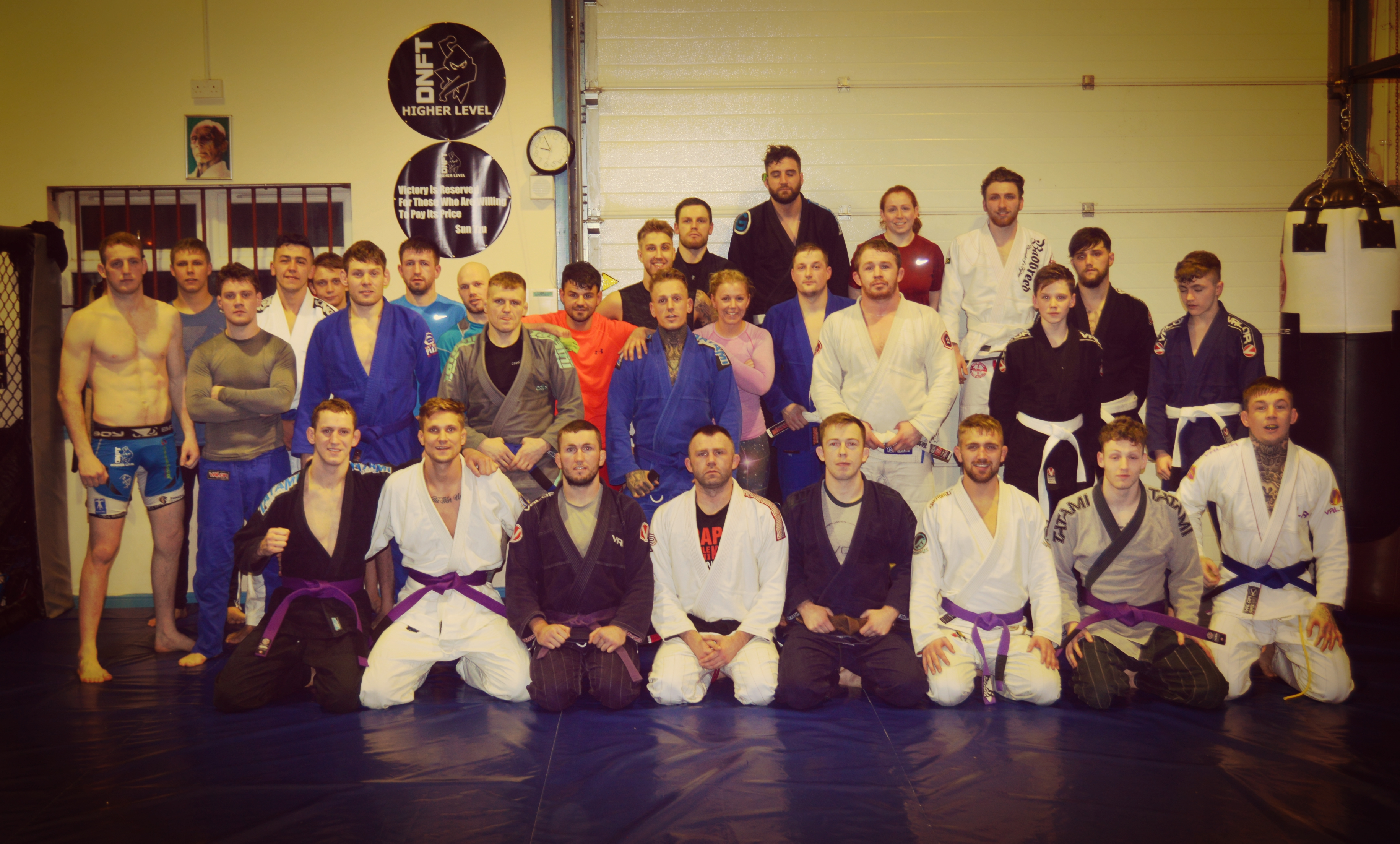 BJJ class at Higher Level