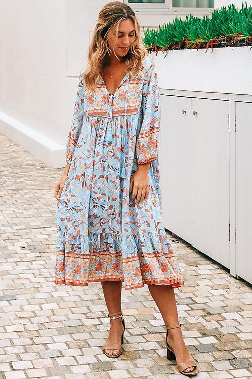 Dreamatcher Katrina 3/4 Sleeve Midi Dress