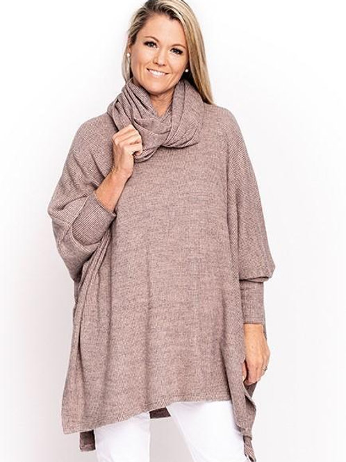 Assisi Poncho Blush OS