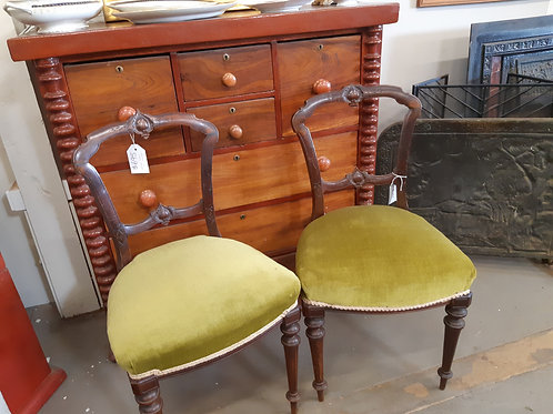 Pair of Carved Parlour Chairs
