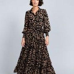 B & T Lido Dress - Falling Leaf Print