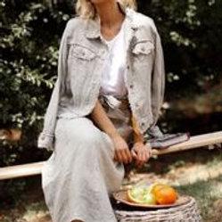 The Shanty Monza Jacket - Tea Linen & White
