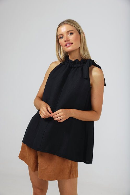 The Shanty Lucia Top - Black