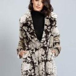 B & T Garland Faux Fur Coat - Snake