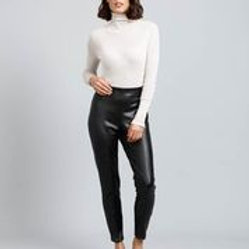 Brave & True Skeeter Pants - Black Vegan Leather