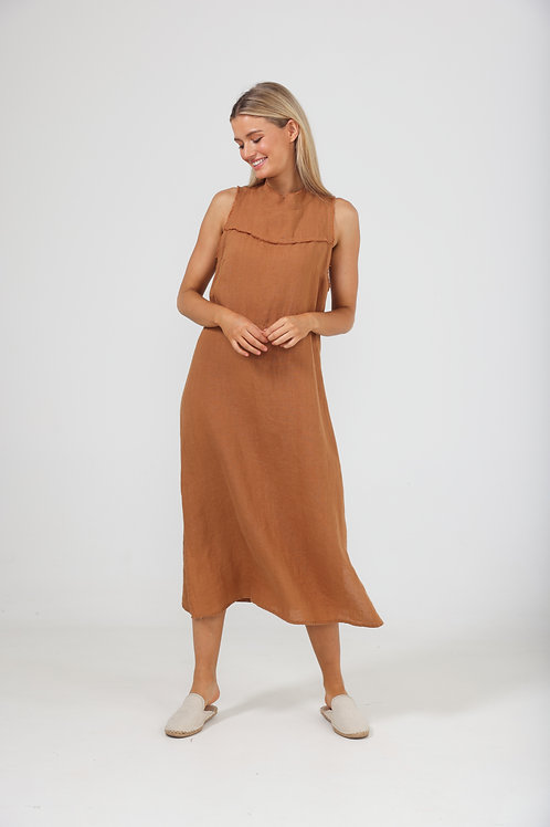 The Shanty Helaina Dress - Tan