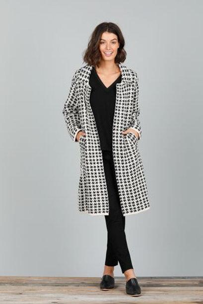 Herringbone Jacket - Black & White