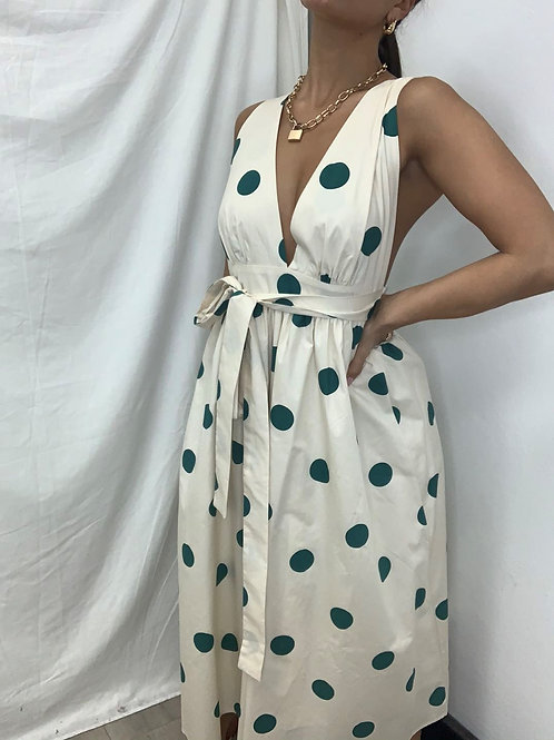 Pink Diamond Green Spot Dress