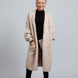 B & T Maison Long Coat - Oatmeal