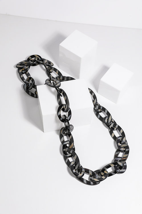 Holiday Harp Necklace - Black Stripe