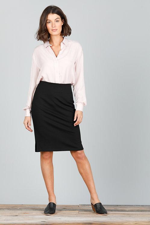 Beverly Skirt - Black Ponte