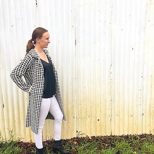 Soph wearing Brave & True Herringbone 3/4 coat