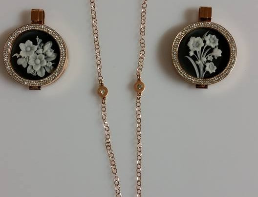 Mio Mi 33mm Flower Collection Cameo Pendant