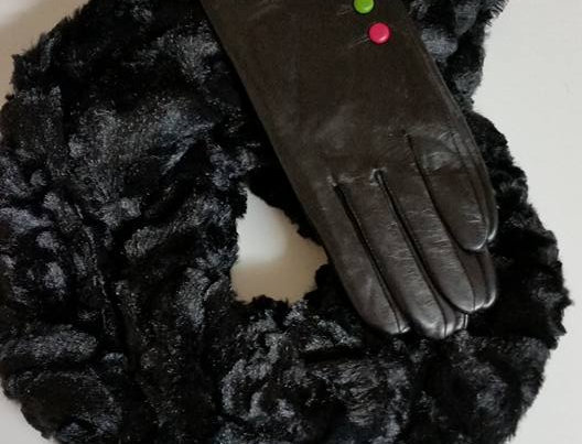 Leather Button Gloves