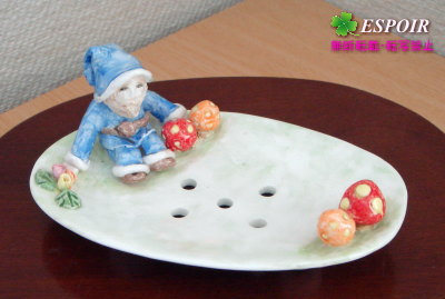 西洋陶芸-ソープ入れ