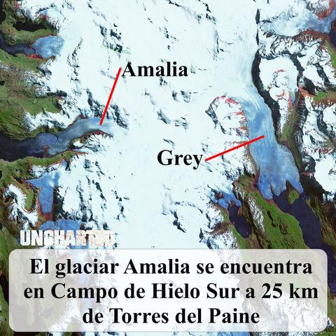 Retreat of the Amalia Glacier