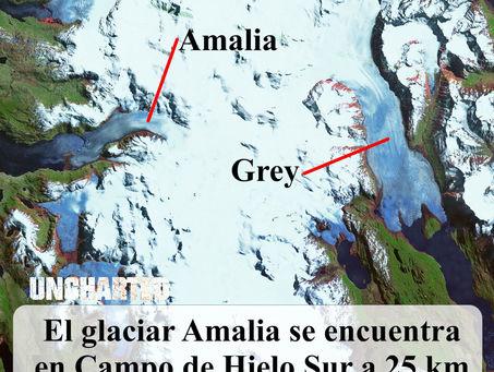 Retroceso del Glaciar Amalia