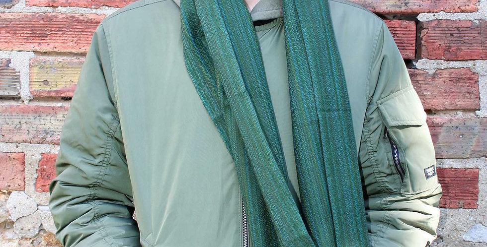 Echarpe en laine de l'Himalaya couleur vert gazon