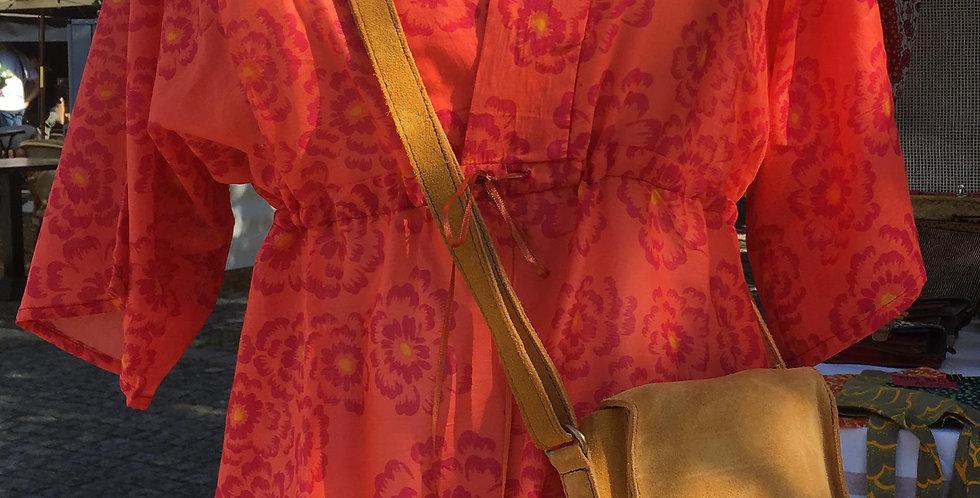 Tunique Thelma imprimé Pivoine rouge
