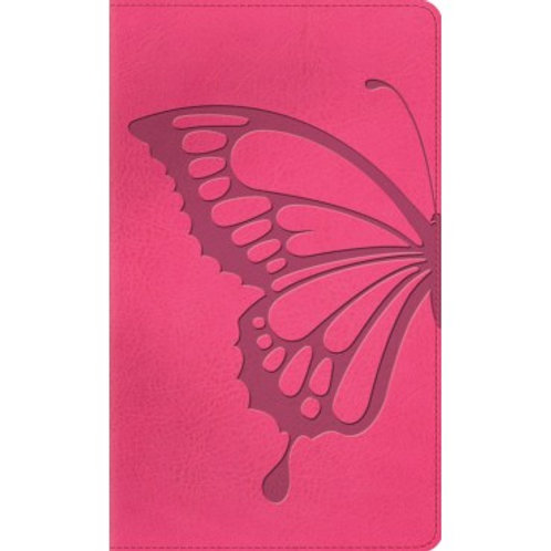 ESV Thinline Bible, Trutone, Pink butterfly