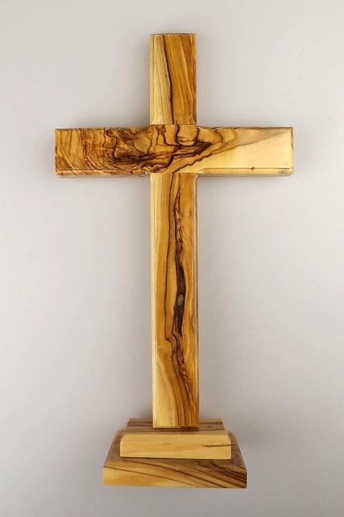 Standing Cross Olive Wood - 30cm