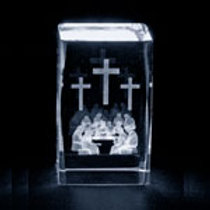Glass Block - Last Supper