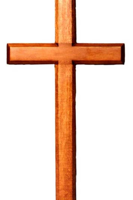 Hanging Cross Dark and Light - 20cm