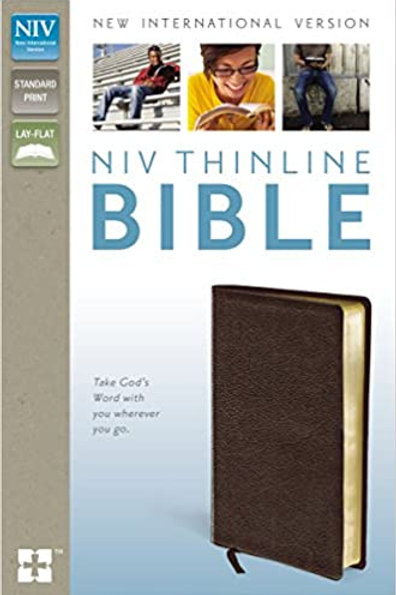 NIV Thinline Brown Bonded leather