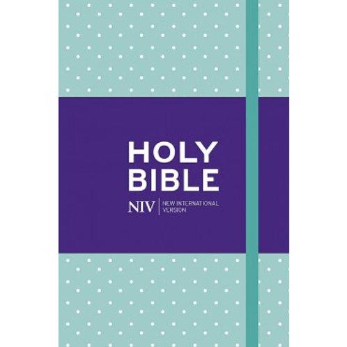 NIV Pocket Mint Polka Dot Notebook
