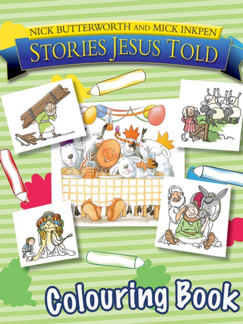 Stories Jesus to;d colouring book