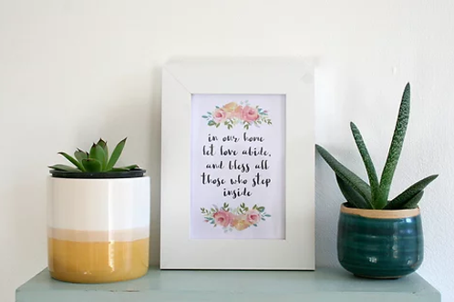 Framed Print - In our Home