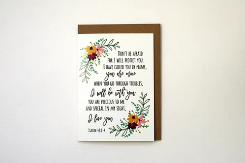 Greeting Card - I will Protect You