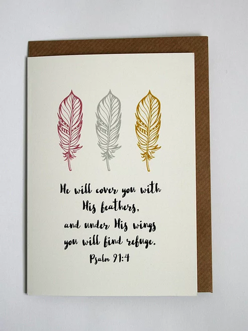 Greeting Card - His Feathers