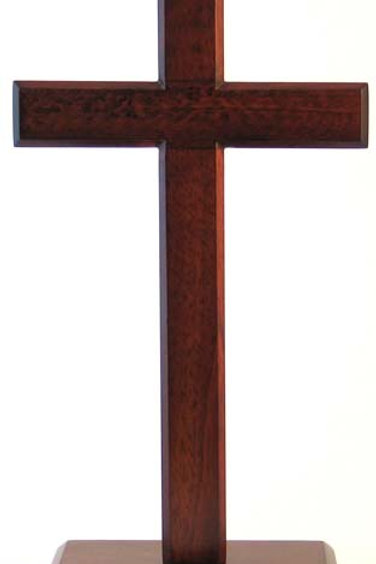 Standing Cross Dark - 10cm