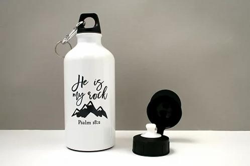 Metal Water Bottle - He is My Rock